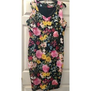 NY&Co Black with Bright Floral Prints